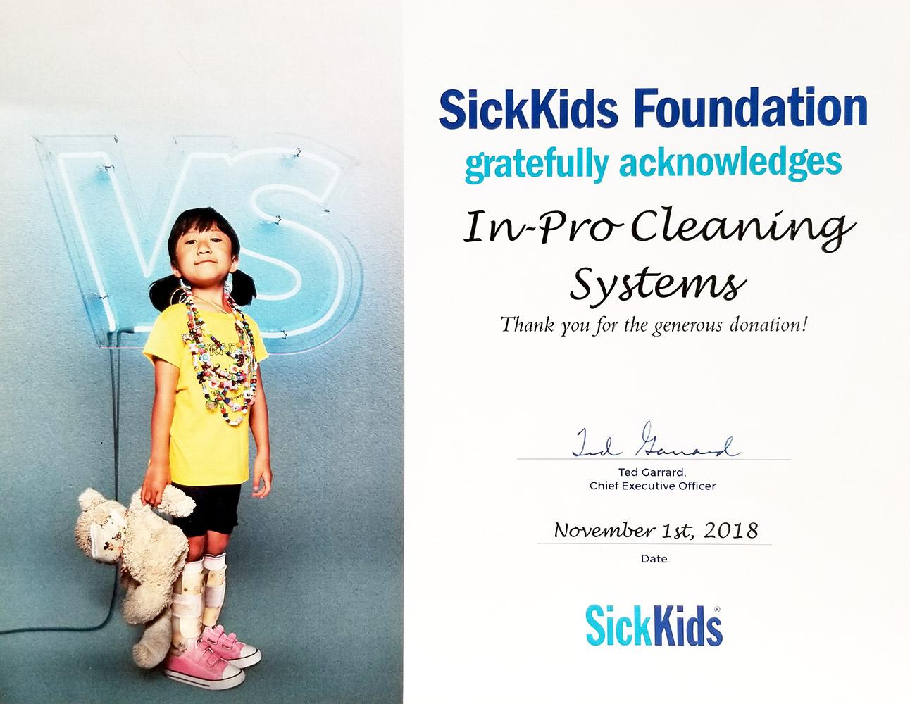 Sick Kids Certificate