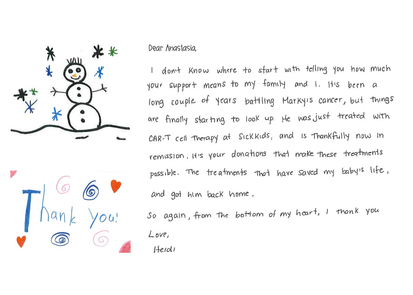 Sick Kids Letter